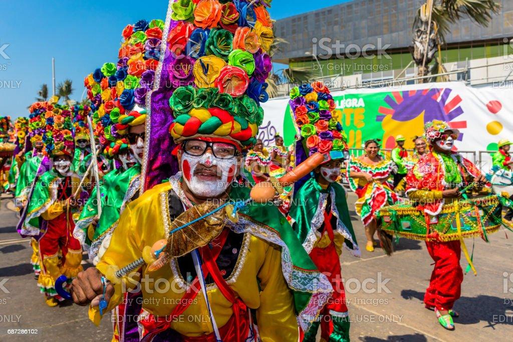 festival de carnaval desfile de Barranquilla Atlantico Colombia - foto de stock