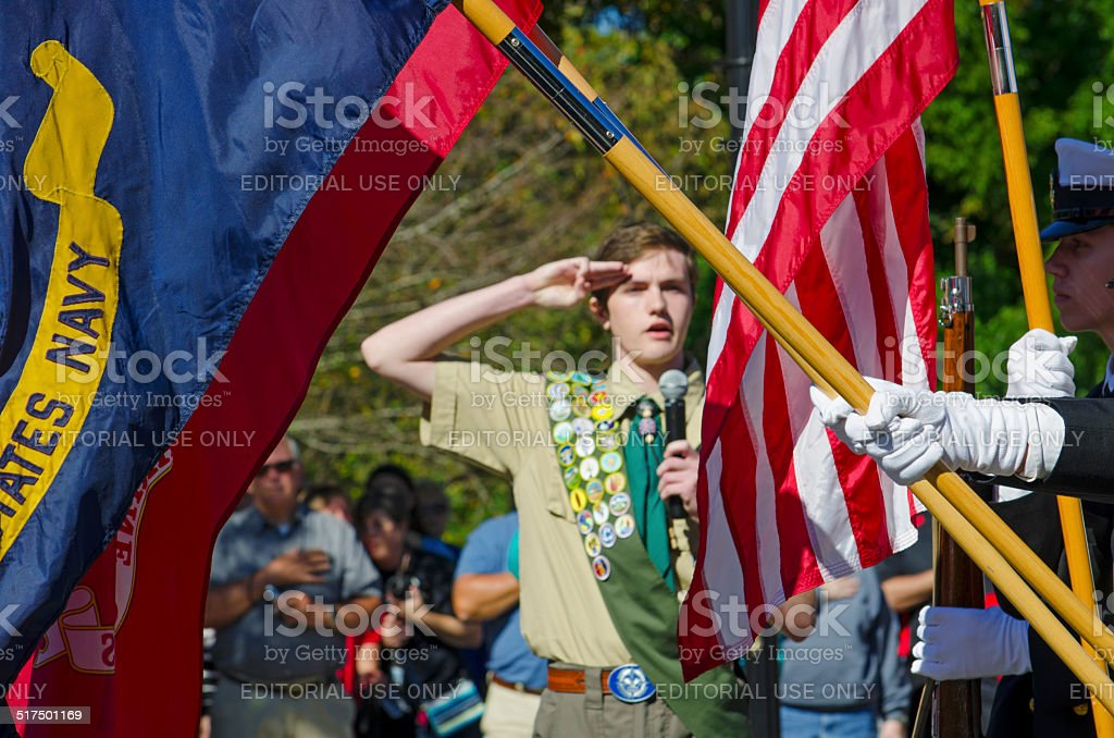 Parade Color Guard stock photo