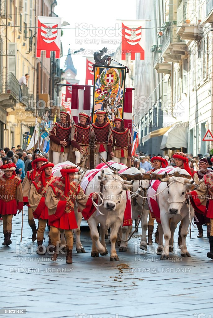 Parade during the Palio stock photo