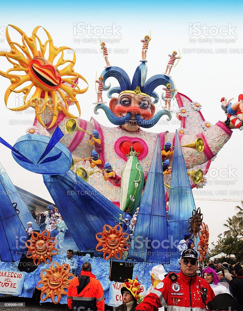 Parade float stock photo