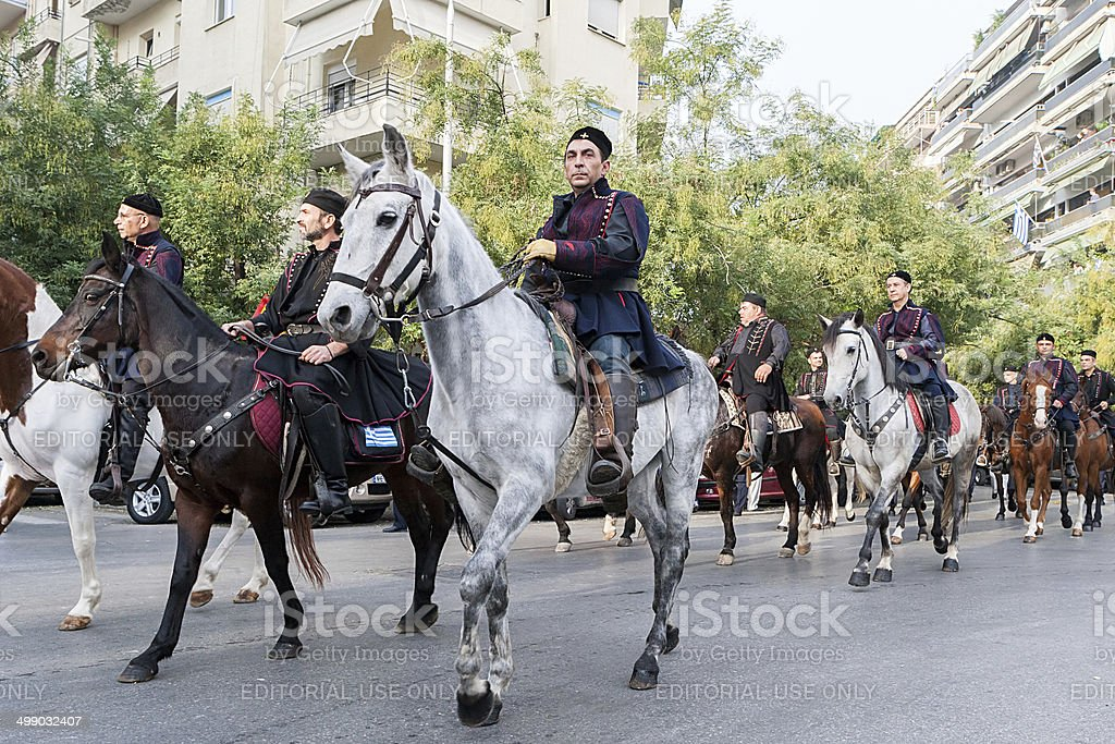 Parade for the 100 Years of Freedom Thessaloniki, Greece. stock photo