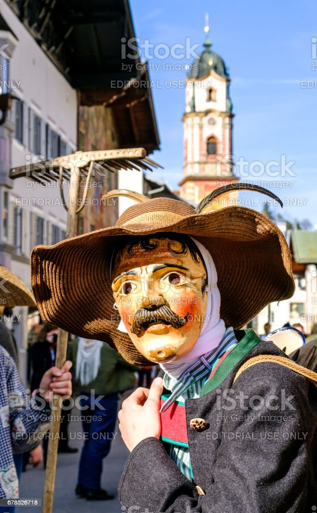parade in mittenwald stock photo