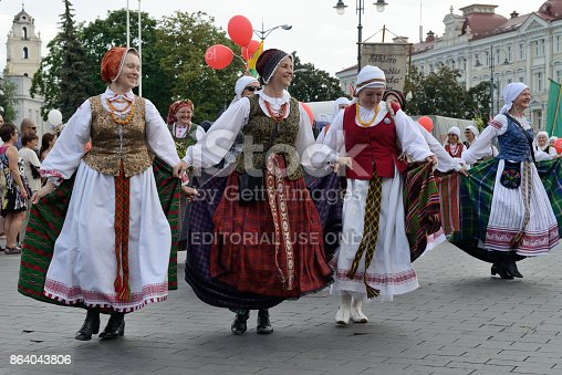 istock Parade in traditional Lithuanian Song Celebration 864043806