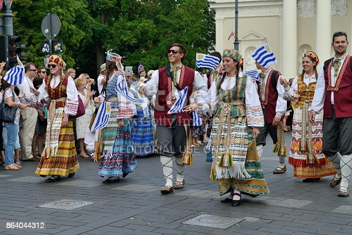 istock Parade in traditional Lithuanian Song Celebration 864044312