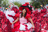 Parade of Madeira Flower Festival in Funchal city, Madeira Island, Portugal, April 2018.