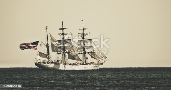 American tall ship participating in the annual parade of sail in Halifax harbour.