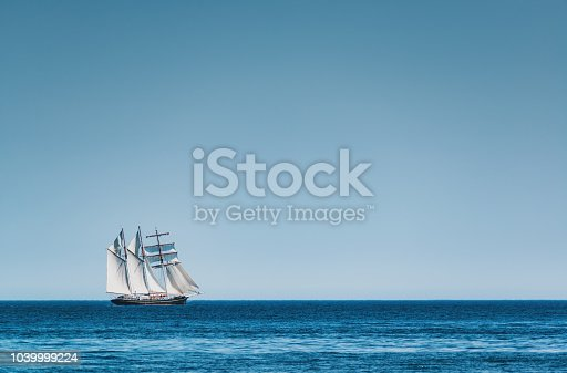 Tall ship participating in the annual parade of sail in Halifax harbour.
