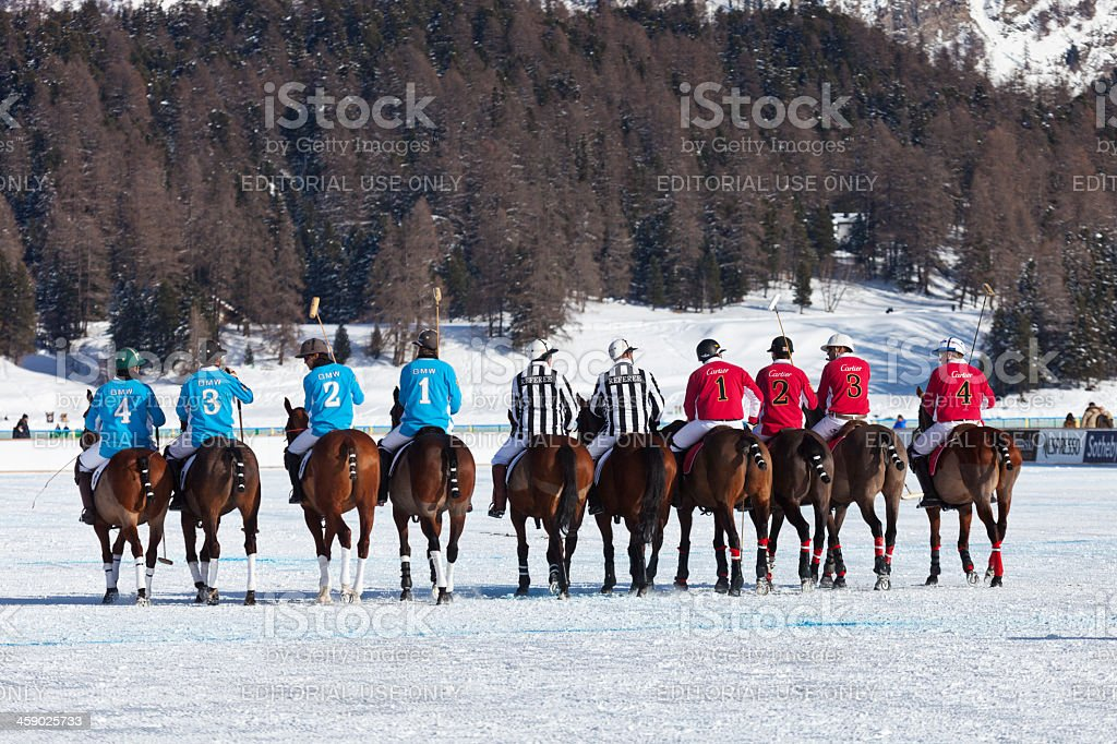 Parade of the Players and Referees royalty-free stock photo