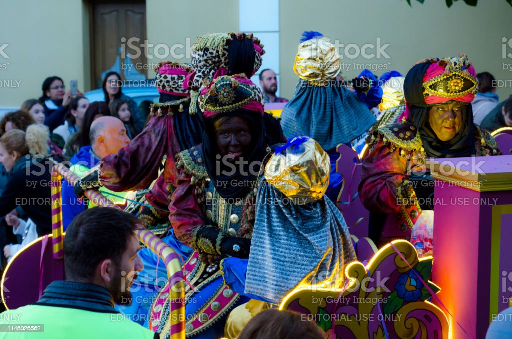 Parade on the occasion of the Epiphany holiday in Malaga province,...