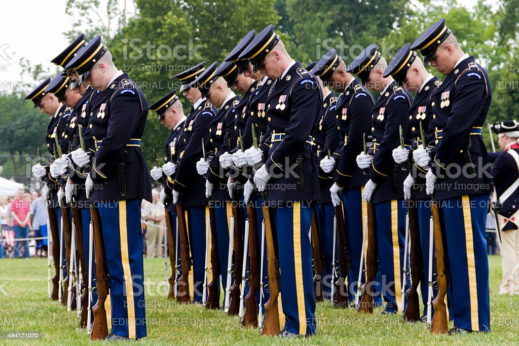 Parade Rest, The Old Guard--3rd United States Army Infanty Regiment stock photo