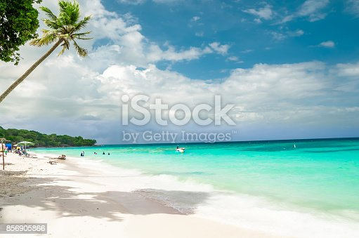 istock Paradies beach of Playa Blanca on Island Baru by Cartagena in Colombia 856905866