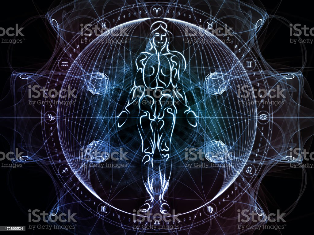 Paradigm of Sacred Geometry stock photo
