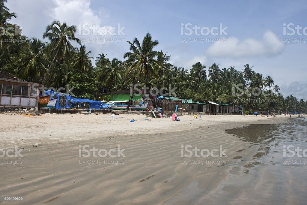 Paradise at a tropical beach Palolem stock photo