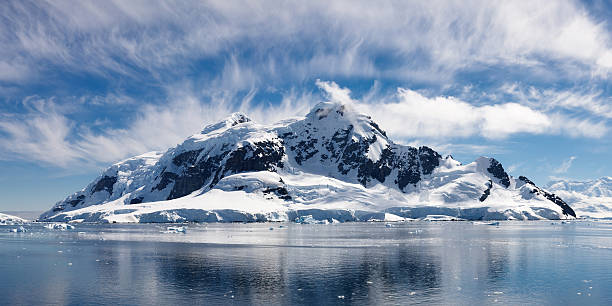 Paradise Bay, Antarctica - Majestic Icy Wonderland stock photo