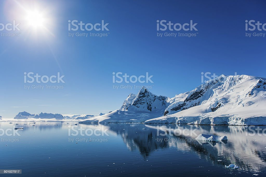 Paradise Bay, Antarctica stock photo