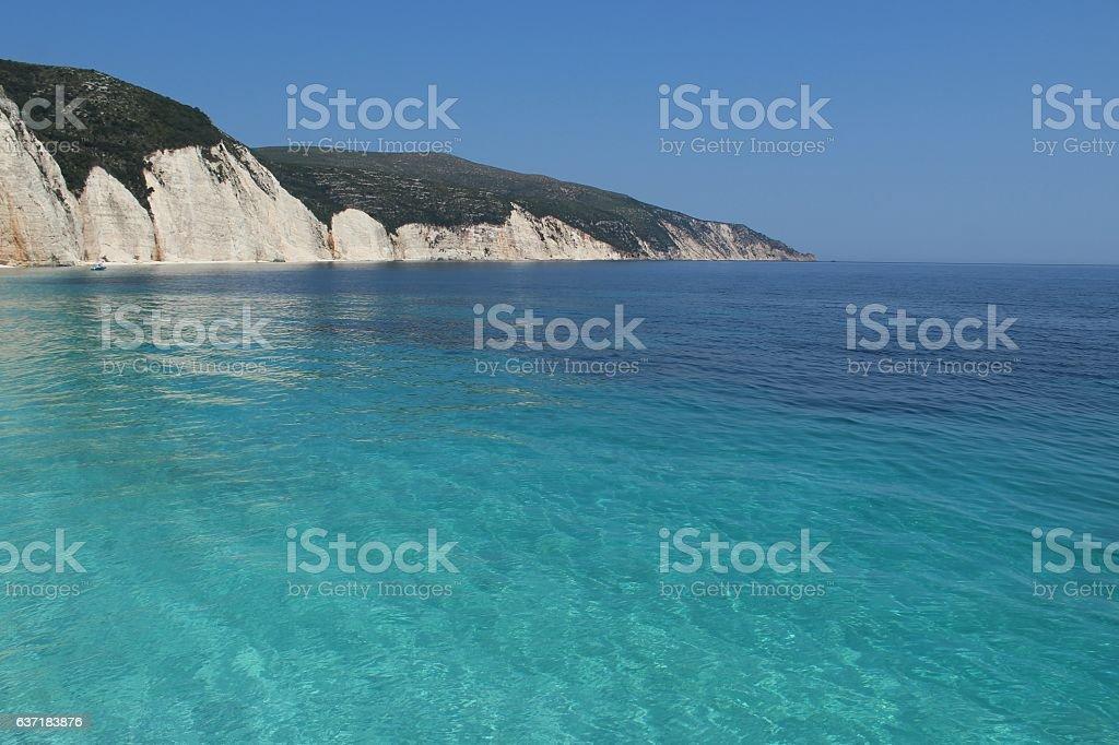 Paradise beach and bay stock photo