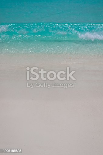 999001484 istock photo Paradise Beach and Waves from Above 1206185828