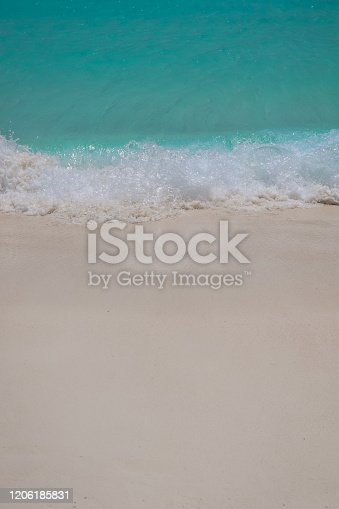 999001484 istock photo Paradise Beach and Waves from Above 1206185831