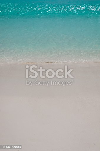 999001484 istock photo Paradise Beach and Waves from Above 1206185833