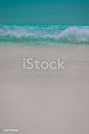 999001484 istock photo Paradise Beach and Waves from Above 1206185835