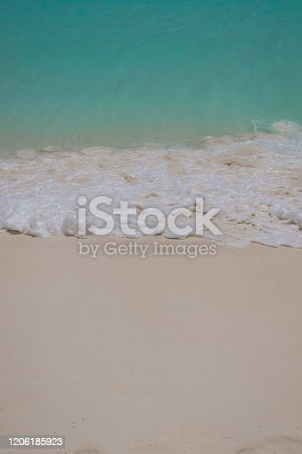 999001484 istock photo Paradise Beach and Waves from Above 1206185923