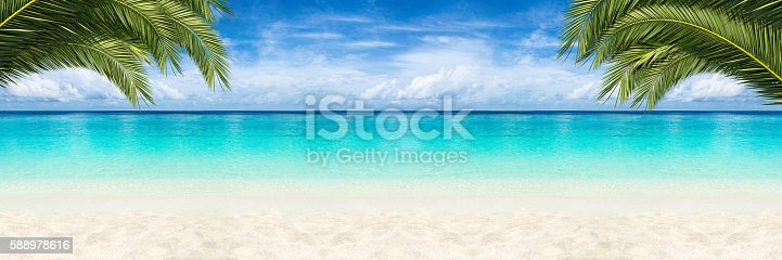 istock paradise beach background 588978616