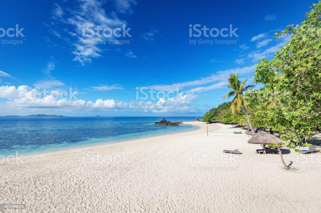 Paradise Beach Castaway Island Fiji Mamanuca Islands Melanesia stock photo