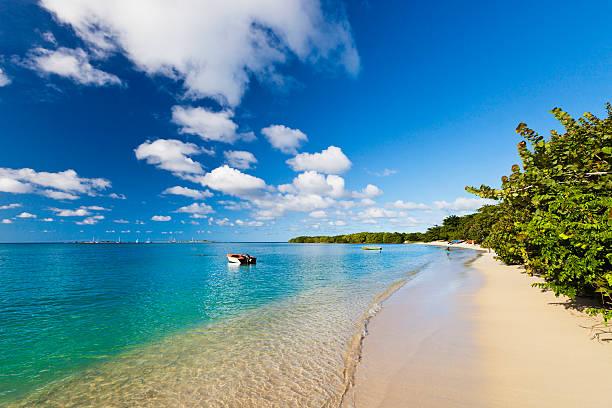 Paradise Beach, Grenada W.I. stock photo