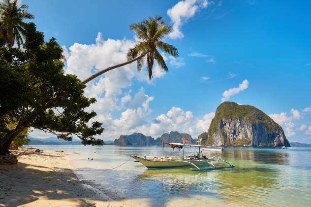 Paradise beach in Palawan, Phillippines stock photo