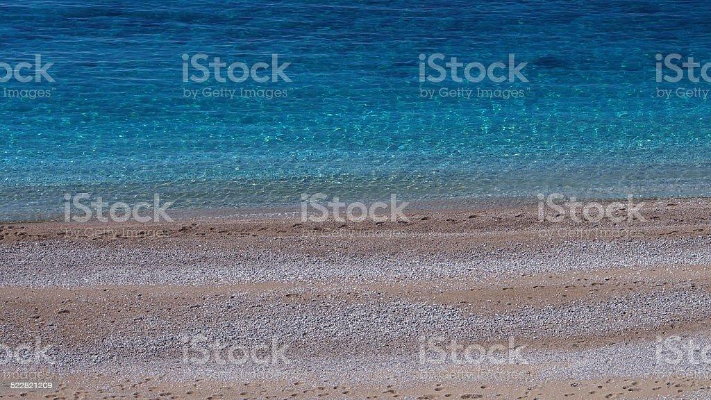 Paradise beach in Yedi Burunlar stock photo