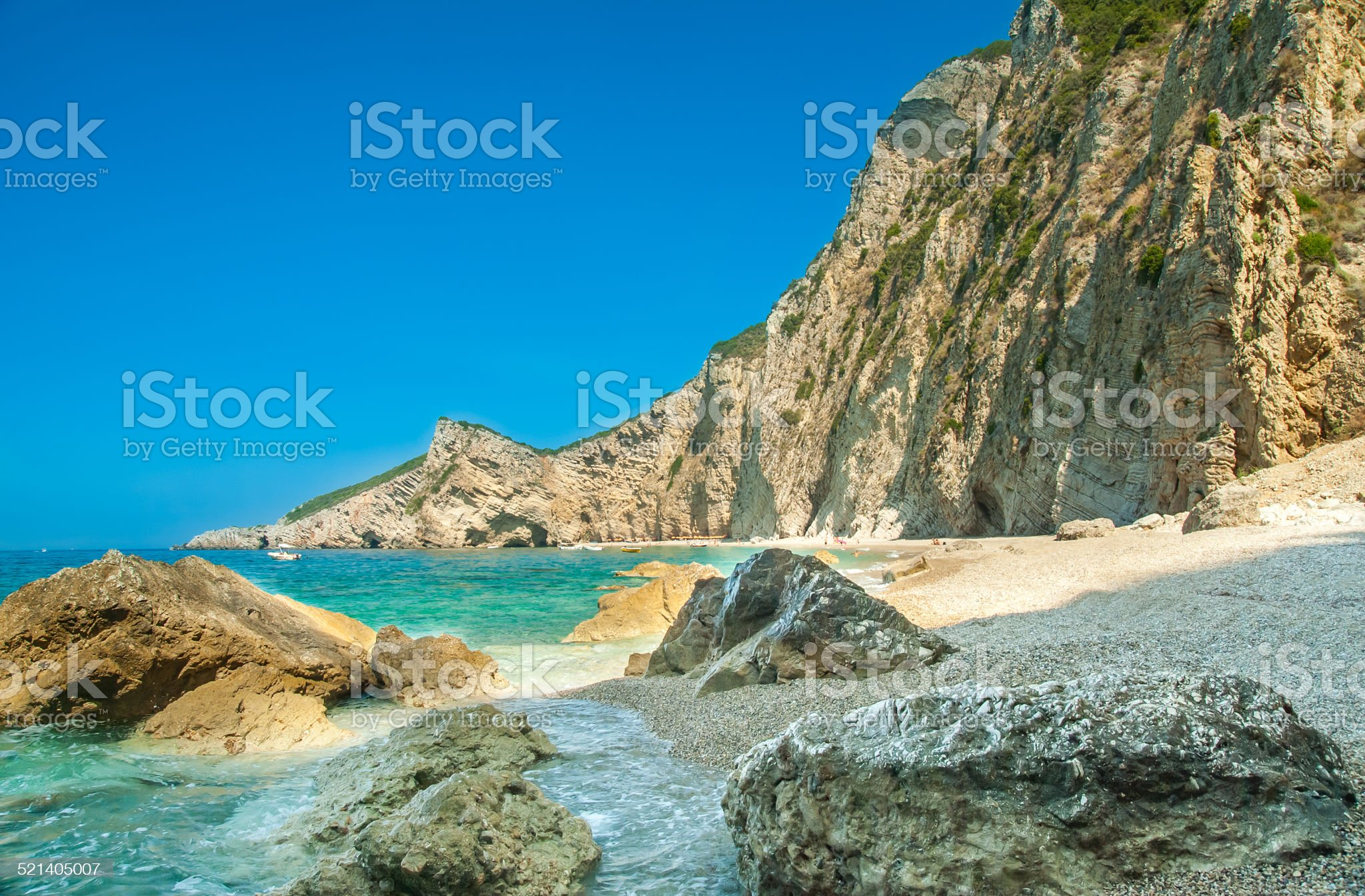 ✓ Paradise Beach near Liapades, Corfu Island, Greece Stock Photos