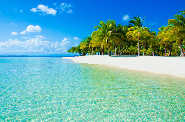Paradise Beach on beautiful island stock photo
