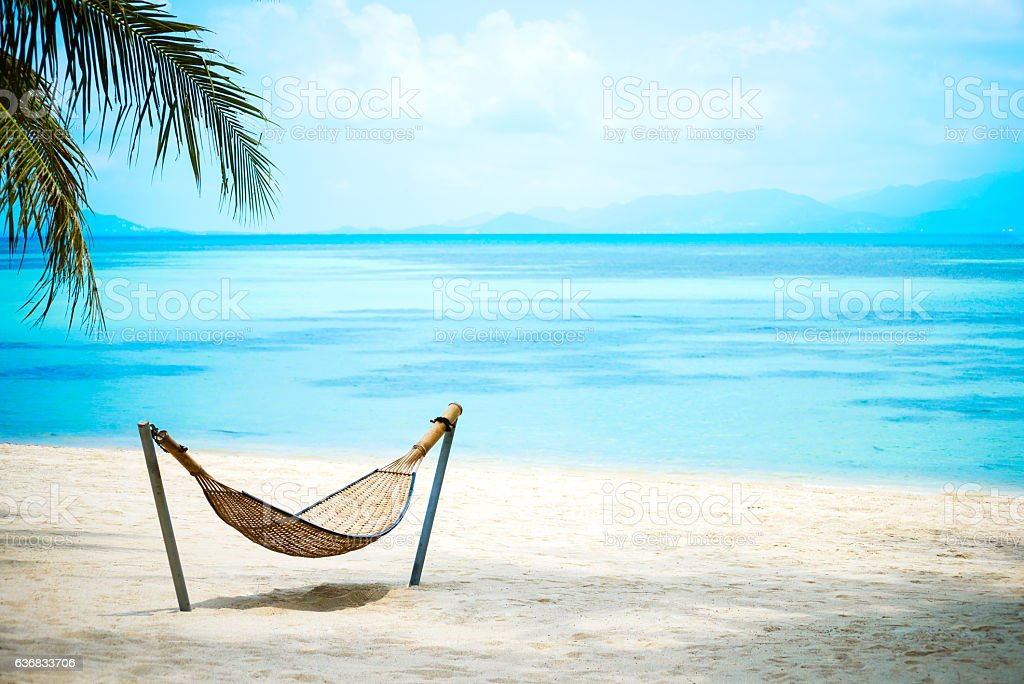 Paradise Beach on Ko Phangan, Thailand stock photo