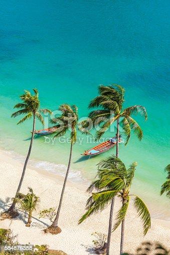 istock Paradise beach on tropical island. Ang Thong National Marine Par 584876388