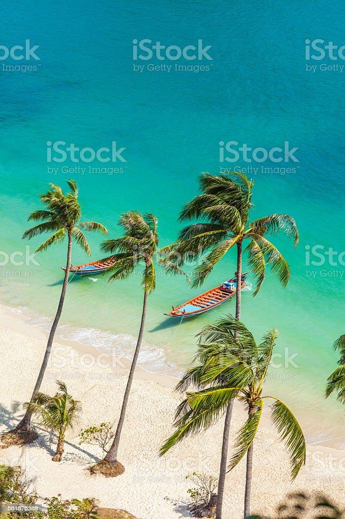 Paradise beach on tropical island. Ang Thong National Marine Par stock photo