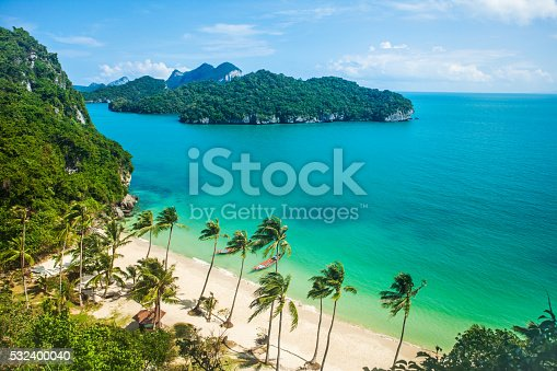 istock Paradise beach on tropical island. Ang Thong National Marine Park 532400040