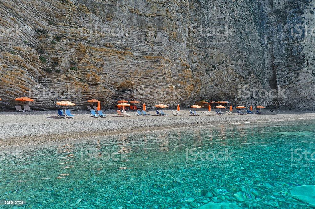 Paradise beach, Paleokastritsa from Corfu, Greece stock photo