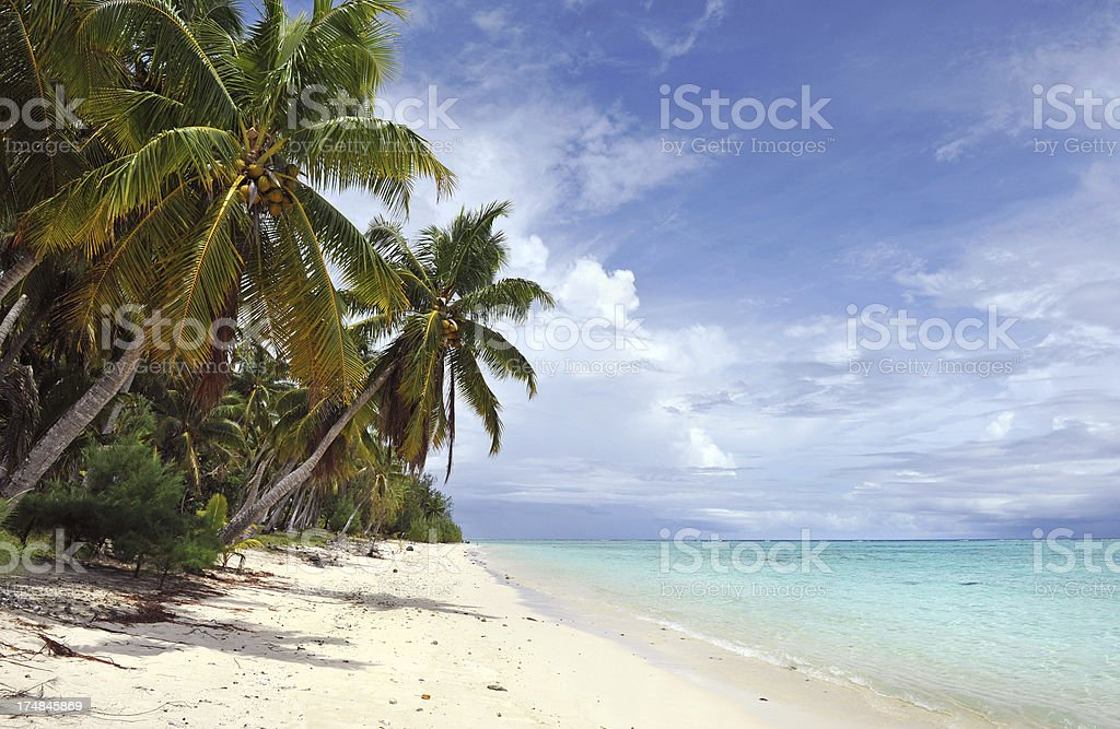 Paradise beach stock photo