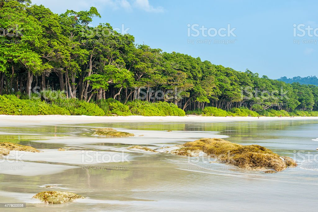 Paradise beach - Radhanagar beach stock photo