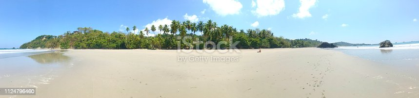 1145102719istockphoto paradise beach with palm trees in Costa Rica 1124796460