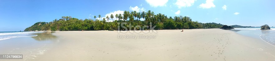1145102719istockphoto paradise beach with palm trees in Costa Rica 1124796634