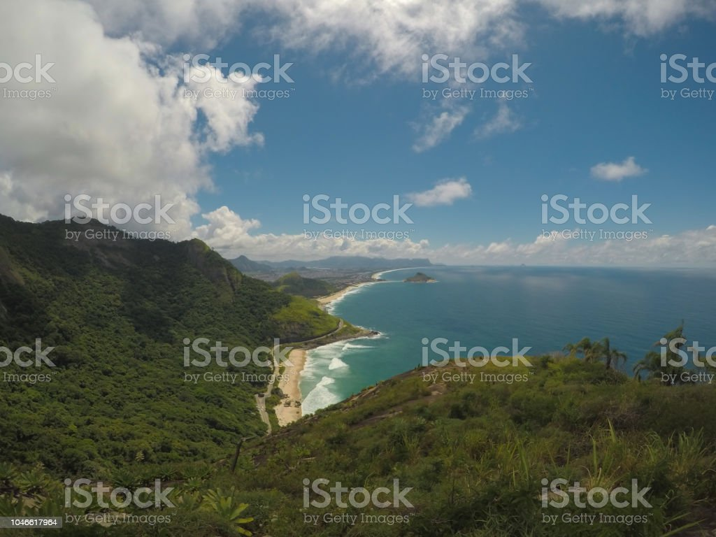 Paradise, beaches, green and landscape stock photo
