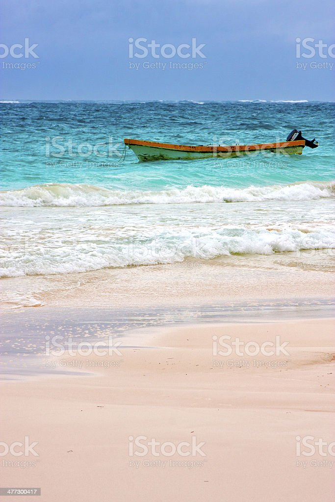 paradise    blue lagoon relax and boat stock photo