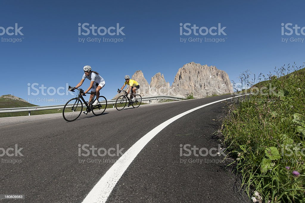 Paradise for cyclists. stock photo