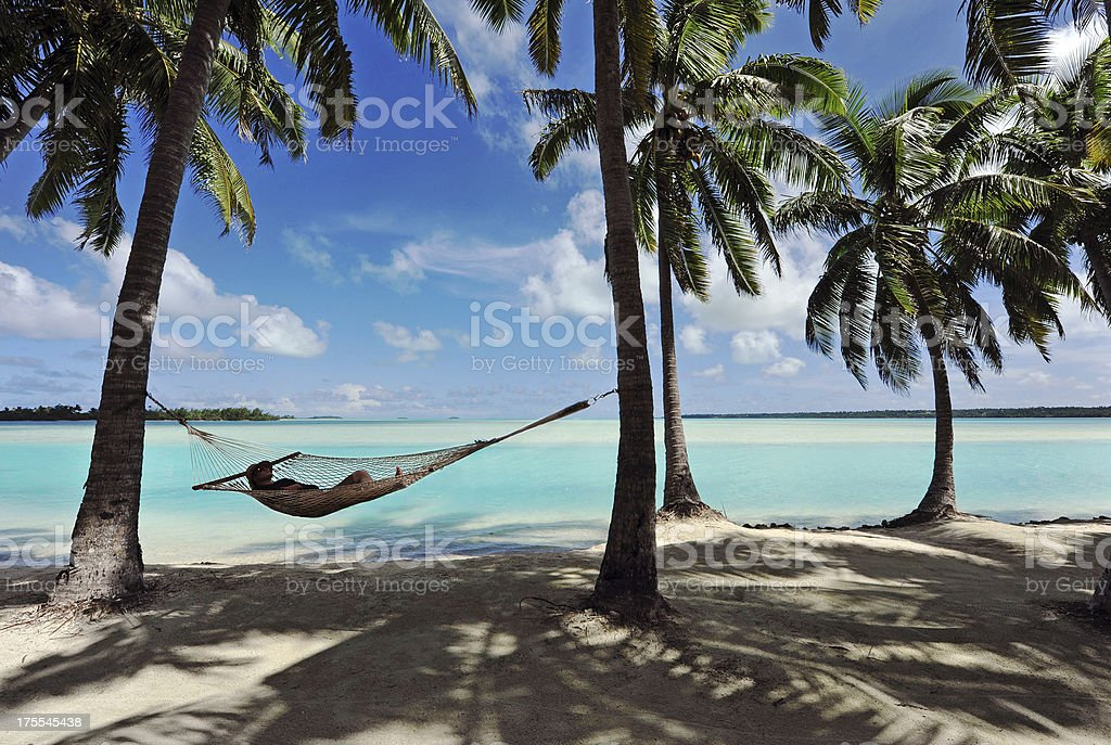 Paradise Hammock stock photo