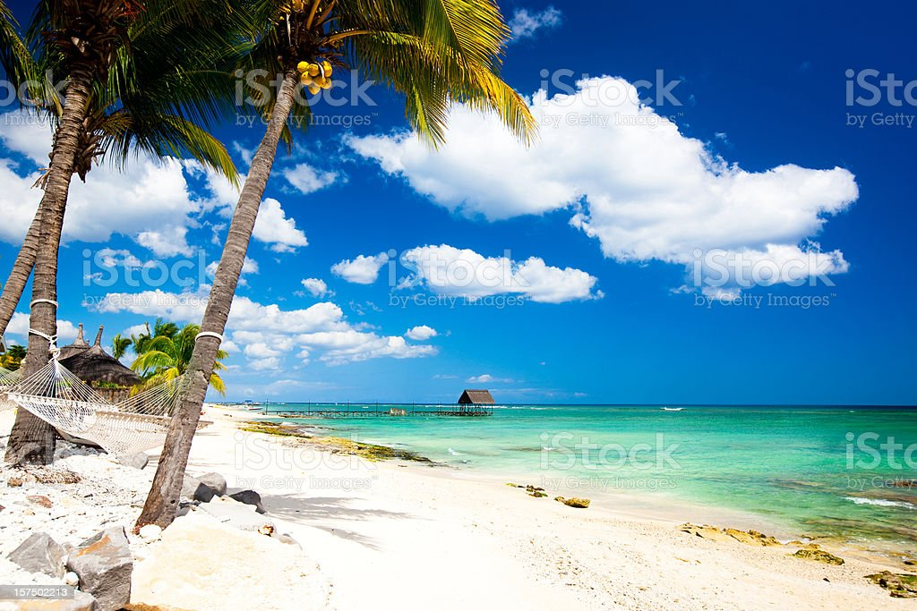 Paradise in Africa stock photo