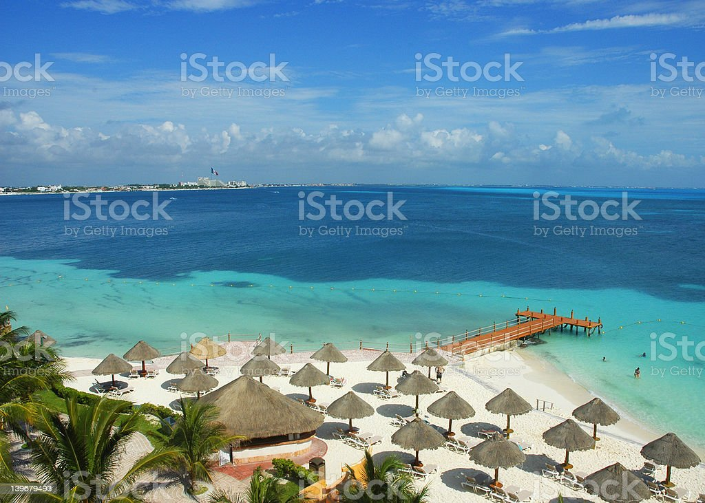 Paradise in Cancun stock photo