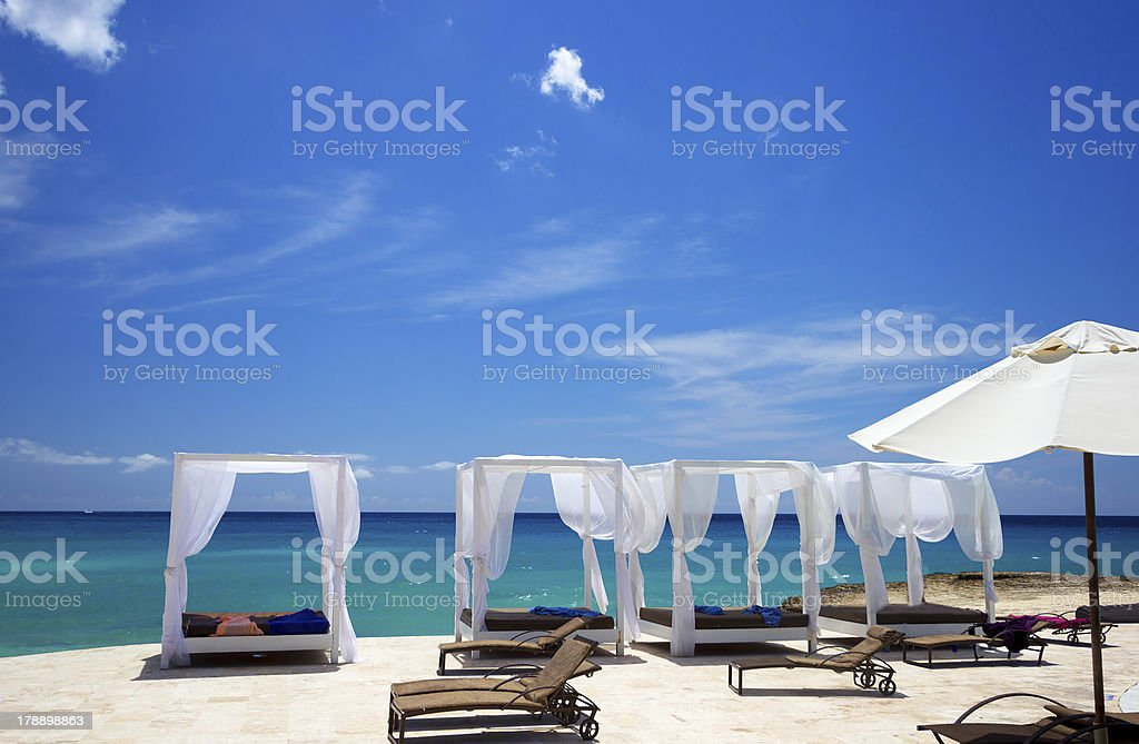 Paraíso en la playa caribeña - foto de stock