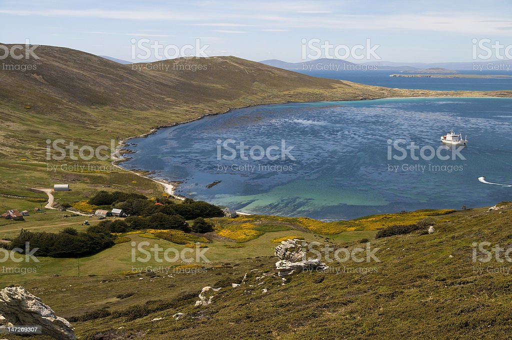 Paradise in the Falklands stock photo