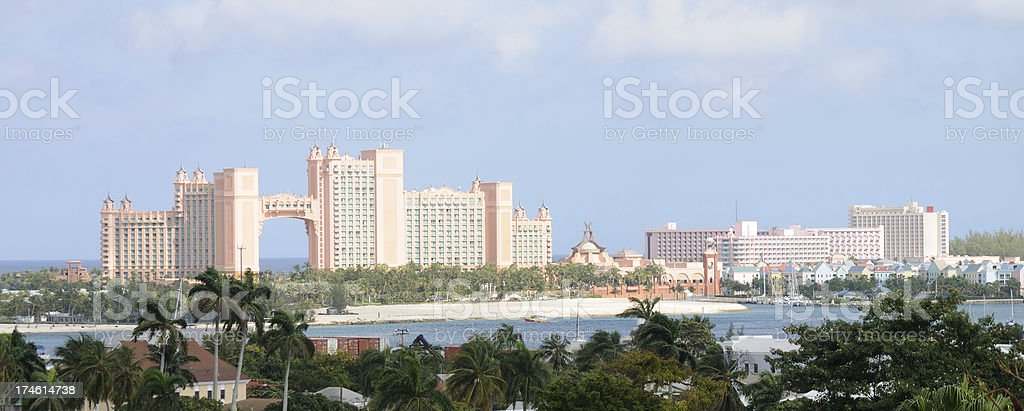 Paradise Island, Atlantis Hotel & Marina stock photo